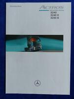 Mercedes-Benz LKW Actros 3240 K B - Prospekt Brochure 02.1999