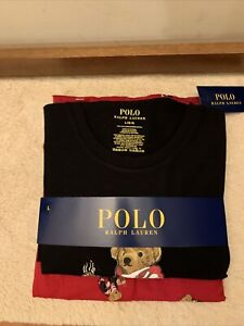 NWT - Polo Ralph Lauren Men's Hot Cocoa Bear Pajama Set RED LTD Edition - Size L