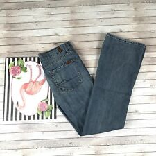 7 For All Mankind Women's Size 29 Flare Jeans Rhinestones Distressed