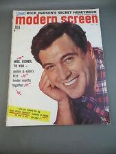 1956 February MODERN SCREEN Movie Magazine Full Issue ROCK HUDSON Cover