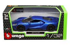 2017 FORD GT BLUE 1/32 DIECAST MODEL CAR BY BBURAGO 43043