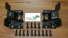 Door Hinges Set Camaro Nova Firebird Pair Upper w/ Mounting Bolt kit 16pc hinge