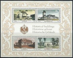 SWA - 1977 4 Nov - Historic Buildings - Miniature Sheet