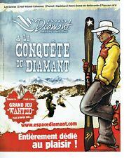Publicité Advertising 089  2010  Espace Diamant station ski Mont Blanc