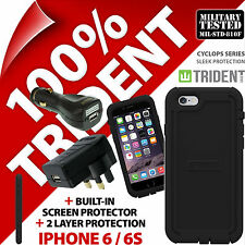 Trident Cyclops Case for Apple iPhone 6 / 6S +USB Car Charger +USB Mains Charger