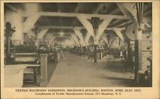 Boston MA Textile Machinery Exhibition Mechanics Bldg 1912 Postcard