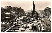Princes Street Edinburgh Aerial View World Scout Jamboree Cancel Postcard 1957