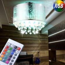 Led Tissu Luminaire de Plafond Feuille D'Argent Cristal RGB Télécommande Dimmer