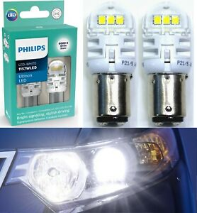 Philips Ultinon LED Light 1157 White 6000K Two Bulbs Front Turn Signal Stock Fit