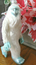 """New Lg Yeti Bigfoot Abominable Snowman Monster! White & Icy Blue Ornament-5 1/2"""""""