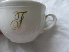VILLEROY & BOCH CORTINA  FINE CHINA  CUP AND SAUCER WITH THE LETTER F