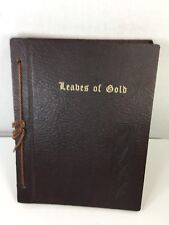 Vintage Leaves of Gold Book Published 1951 Leather Bound in VG Condition