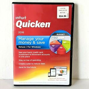 Intuit QUICKEN Deluxe for Windows 2016, Pre-Owned