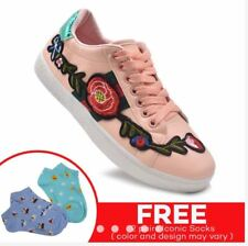 Rave Women Shoes Embroidery Design - (PINK) SIZE 36