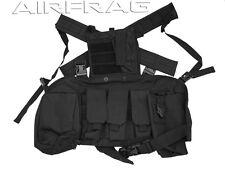 Tarkenn Adjustable Open Back Tactical Vest w 5 Pockets - Black VT019B