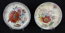 2 assiettes anciennes céramique moderne signées francis moustiers pièce unique