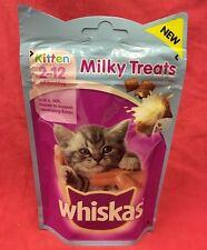 Whiskas Kitten Milky Treats 55g Rich In Milk Supports Bones 8+ Weeks Old Calcium
