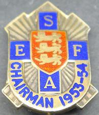 1953-54 Presidente Inghilterra Calcio Scuole DISTINTIVO di associazione H/contrassegnate Argento