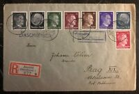 1942 Zauchtel Bohemia Moravia Germany Registered Cover To Prague