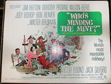 WHO'S MINDING THE MINT! '67 M.BERLE, B.DENVER ORIGINAL U.S. 1/2-SHT FILM POSTER!