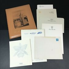 Vintage Leather Folder With Hotel Stationary New York Life April 1966 Flaws