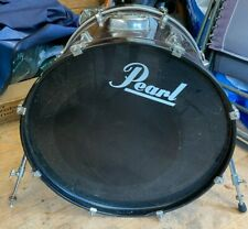 More details for 22in pearl forum bass drum in metallic wine red wrap for drum kit free p&p