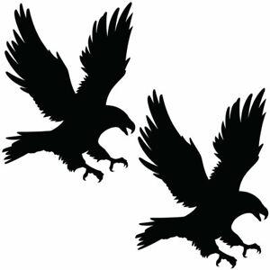 Qty 2 Bird of Prey Stickers 2, Anti Bird Strike Window Decal Pack NN Any Colour
