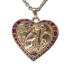 EGYPTIAN BAST/BASTET HEART NECKLACE/PENDANT JEWELRY.NEW