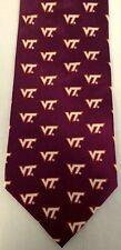 Virginia Tech Hokies 100% Silk Tie NCAA College Basketball Football University
