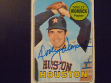DOOLEY WOMACK 1969 TOPPS SIGNED AUTOGRAPHED CARD #594 HOUSTON