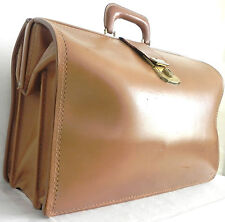Vintage Attorney/Doctor /Commuter Brief Case Leather Carrying Bag Large  Brown