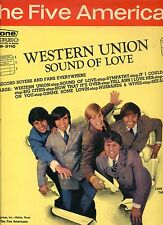 THE FIVE AMERICANS western union sound of love RARE DUTCH EX LP 1967