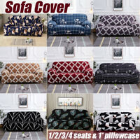 1-4 Seats Elastic Sofa Covers Slipcover Settee Stretch Floral Couch Protector
