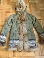 Authier Fur Down Coat, Pre-Owned in Excellent Condition, Size 8