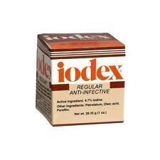 2 Pack - Iodex Regular Anti-Infective Ointment Jar 1oz Each