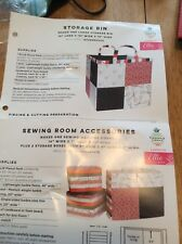 sewing room storage Boxes Patterns And Kit