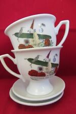 2 x HENDRICKS GIN CUP & SAUCER Cultivate the Universe V.G.COND