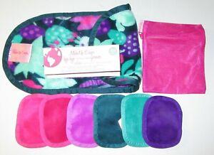 The Original MakeUp Eraser 8 Piece Set W/Laundry Bag & Facial Exfoliator cloth