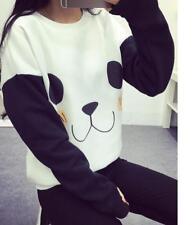 Fashion Cute Panda Printed Sweater Casual Shirt Winter Warm Loose  Blouse Tops