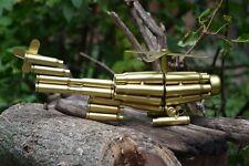 Brass Bullet Shell Casings Helicopter Sculpture - Model - Military - War
