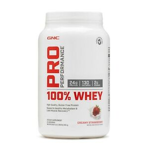 GNC Pro Performance 100% Whey Protein 25 servings Creamy Strawberry EX:12/2021