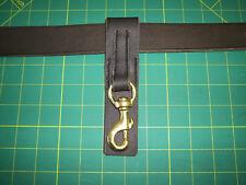 Bucle de cinturón de cuero Clip Triger De Bronce Llavero, utilidad, Bushcraft