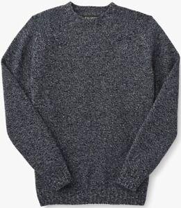 Filson 4GG Crewneck Sweater Navy Marled, Men's 2XL NWT MSRP $295