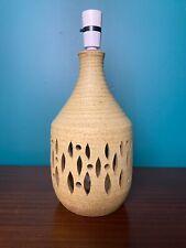 Vintage Mid Century Ceramic Cream Table Lamp Base Retro 1960s 70s