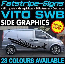 MERCEDES VITO SWB COMPACT GRAPHICS STICKERS STRIPES DECALS CAMPER DAY RACE VAN