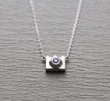 Fashion Jewelry 925 sterling silver camera photo minimalist pendant necklace
