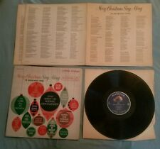 Merry Christmas Sing Along LP John McCarthy Chorale 1961 RCA Victor LSP-2476 vg+