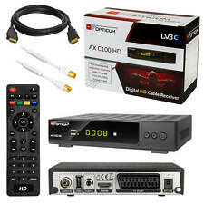 Kabel TV Receiver Kabelfernsehen DVB-C HD C100 USB SCART+ HDMI Antennenkabel 1m