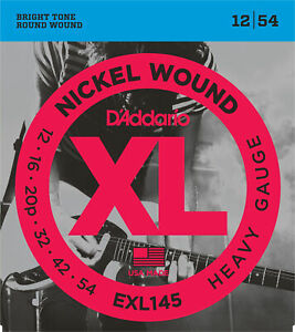 10 Sets D'Addario EXL145 Electric Guitar Strings Heavy Gauge 12-54