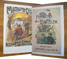 "1973 PRINT/POSTER/AD~1907 MATADOR BICYCLES~1915 FONGERS BICYCLES~16""x11"""
